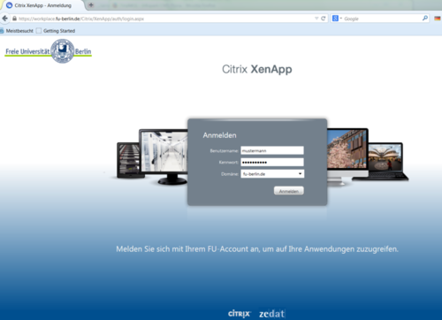 Citrix-Anmeldefenster