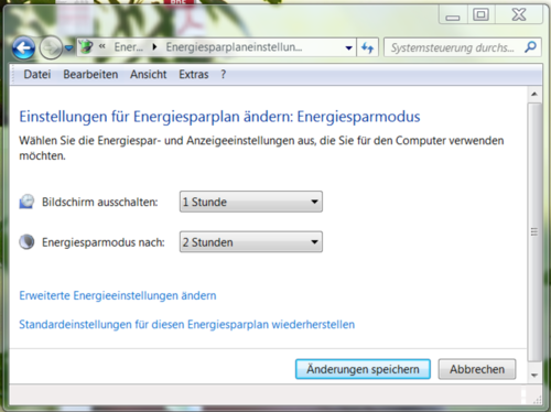 Windows7/Einstellungen