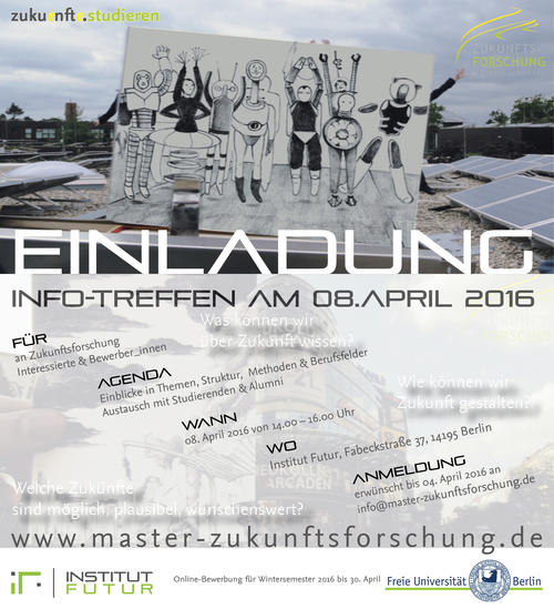 Info-Treffen Zuku(e)nft(e) studieren -  am 8. April 2016